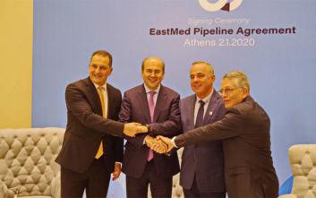 EastMed: Τριμερής υπουργική συνάντηση για τον αγωγό φυσικού αερίου