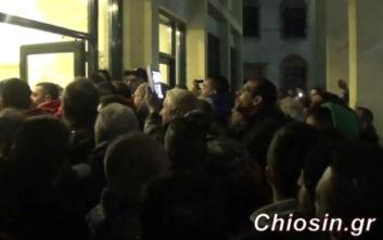 Χίος: Μια σύλληψη για τα επεισόδια στο δημαρχείο