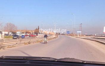 Οδηγούσε τη μηχανή της στο αντίθετο ρεύμα στον περιφερειακό της Θεσσαλονίκης