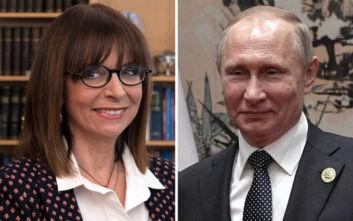 Συγχαρητήρια Πούτιν στην Κατερίνα Σακελλαροπούλου για την εκλογή της