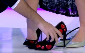 My Style Rocks 3: Ο Στέλιος Κουδουνάρης «δανείστηκε» τα παπούτσια της Έλενας Χριστοπούλου