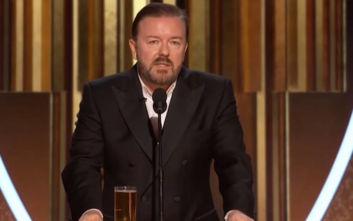 Χρυσές Σφαίρες 2020: Η ομιλία του Ricky Gervais και η προτροπή στους ηθοποιούς να πάνε να γ@@@@