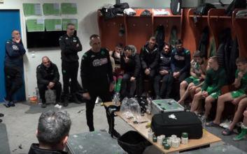 Παναθηναϊκός: Η ψυχωμένη ομιλία του Δώνη στους ποδοσφαιριστές του μετά την πρόκριση