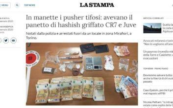 Χασίς με το σήμα της Γιουβέντους και του Ρονάλντο κατάσχεσε η ιταλική αστυνομία