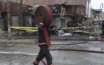 Δεκατρείς νεκροί από έκρηξη βυτιοφόρου λόγω διαρροής αερίου στο Περού