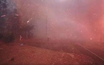 Δείτε πόσο τρομακτικά γρήγορα εξαπλώνεται μια πυρκαγιά