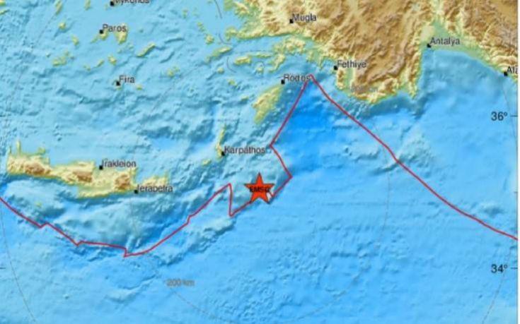 Νέος σεισμός τώρα νότια της Ρόδου