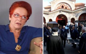 Το τελευταίο «αντίο» στη Χριστίνα Λυκιαρδοπούλου είπαν συγγενείς, φίλοι και συνεργάτες