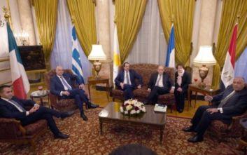 Ολοκληρώθηκε η συνάντηση Δένδια με τους ΥΠΕΞ Κύπρου, Αιγύπτου, Γαλλίας και Ιταλίας για τη Λιβύη