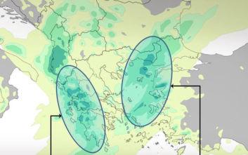 Βροχερός ο καιρός σήμερα σχεδόν σε όλη τη χώρα, τι περιμένουμε στην Αττική