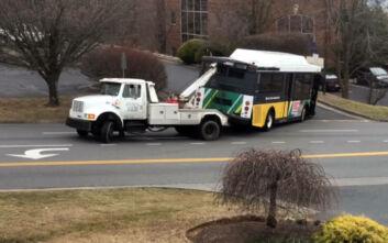 Ρυμούλκηση λεωφορείου δεν είναι τόσο εύκολη