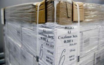 Οι ουκρανικές αρχές ξεκίνησαν την καταστροφή 37.000 μπουκαλιών νοθευμένης βότκας