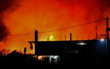 Μεγάλη φωτιά στους Μύλους Αργολίδας – Κινδύνευσαν κατοικίες