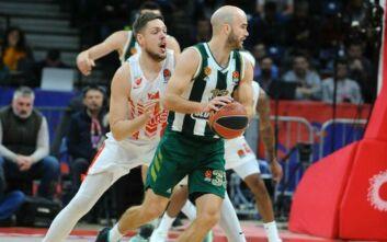 Euroleague: Οδυνηρή ήττα για τον Παναθηναϊκό στο Βελιγράδι