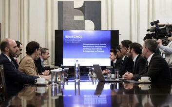 Με το βλέμμα σε σημαντικές και εμβληματικές παρεμβάσεις η συνάντηση Μητσοτάκη-Μενδώνη