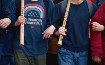 Ένταση στην πορεία των φοιτητών προς την ΓΑΔΑ - Φθορές σε τράπεζα