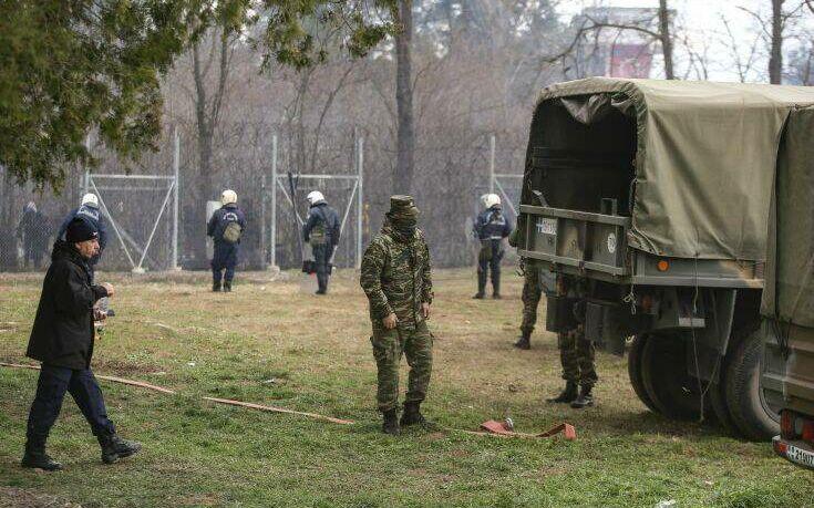 Ενίσχυση των αστυνομικών δυνάμεων στις Καστανιές με τεθωρακισμένα του στρατού