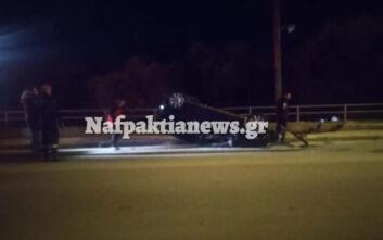 Εικόνες από τροχαίο στη Ναύπακτο - Αυτοκίνητο ντελαπάρισε και εγκλωβίστηκαν άνθρωποι