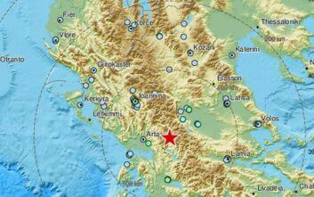 Ισχυρός σεισμός τώρα κοντά στην Καρδίτσα