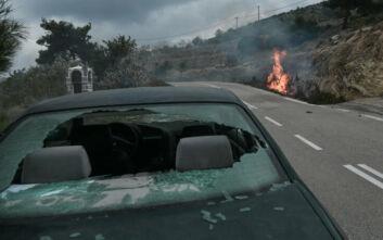 Χίος: Νέα ένταση κατά την αποχώρηση των ΜΑΤ - Κυνηγητό, σπασμένα τζάμια και φωτιές