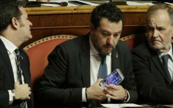 Η Γερουσία ψήφισε υπέρ της παραπομπής σε δίκη του Ματέο Σαλβίνι
