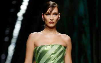 Η Μπέλα Χαντίντ τόπλες στο σπα της Dior
