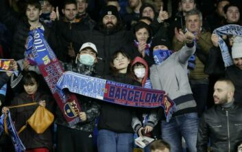 Champions League: Με μάσκες για τον κορονοϊό στο Νάπολι - Μπαρτσελόνα