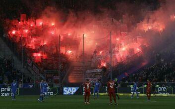 Στο Χόφενχαϊμ - Μπάγερν οι παίκτες άλλαζαν πάσες για 13 λεπτά ως διαμαρτυρία κατά των οπαδών