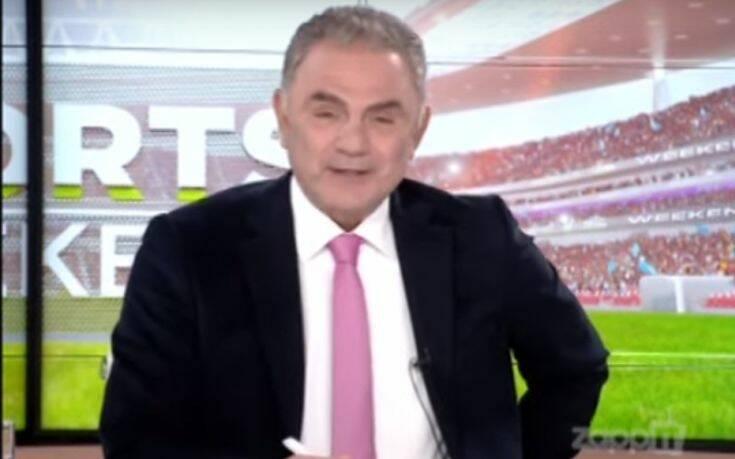 Συγκινήθηκε ο Χρήστος Σωτηρακόπουλος στην πρεμιέρα του Sports Weekend στο Mega