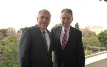 Συνάντηση Θεοδωρικάκου με Πάιατ για τη στρατηγική συνεργασία Ελλάδας - ΗΠΑ
