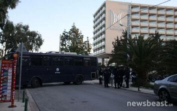 Ισχυρές αστυνομικές δυνάμεις στο Καβούρι για το 37ο Συνέδριο της ΓΣΕΕ