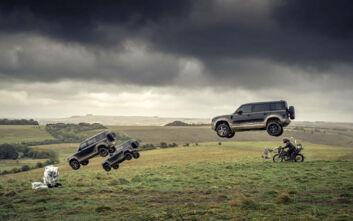 Το νέο Land Rover Defender απογειώνεται και πρωταγωνιστεί στην ταινία του «007» No Time To Die
