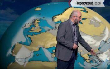 Αρναούτογλου: Δεν αποκλείονται ακόμα και μπόρες χιονιού μέσα στη νύχτα στην Αθήνα