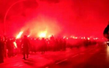 Εντυπωσιακή υποδοχή της Ατλέτικο Μαδρίτης από τους οπαδούς της