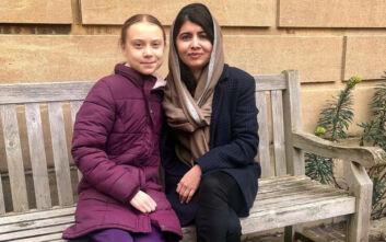 Η Γκρέτα Τούνμπεργκ συνάντησε την 22χρονη κάτοχο του Νόμπελ Ειρήνης, Μαλάλα Γιουσαφζάι