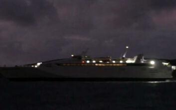 Ταλαιπωρία για τους επιβάτες του «Hellenic Highspeed», μπλέχτηκε η άγκυρα