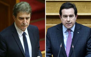 Ενημέρωση από Χρυσοχοΐδη - Μηταράκη σε κομματικά στελέχη της ΝΔ για το προσφυγικό και την ασφάλεια