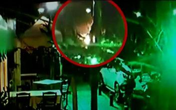 Η στιγμή της έκρηξης του αυτοκινήτου του εκδότη Νίκου Καραμανλή