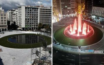 Έτσι είναι η νέα πλατεία Ομονοίας την ημέρα και τη νύχτα