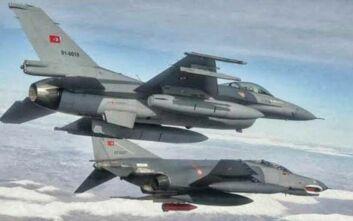Ζεύγος τουρκικών F-16 πέταξε πάνω από τις Οινούσσες