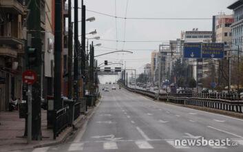 Κορονοϊός: Η λεωφόρος Συγγρού όπως δεν έχουμε συνηθίσει να τη βλέπουμε