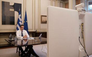 Τα δύο σημεία που στάθηκε ο Κυριάκος Μητσοτάκης στην τηλεδιάσκεψη με τους Ευρωπαίους ηγέτες