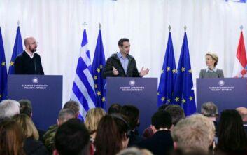Μήνυμα αλληλεγγύης της ΕΕ από τον Έβρο για το προσφυγικό: Η Ελλάδα είναι η ασπίδα μας - Θα της δώσουμε 700 εκατ. ευρώ