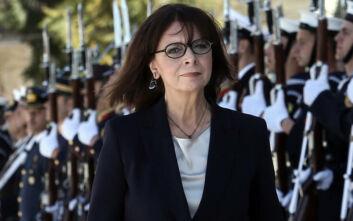 Η Κατερίνα Σακελλαροπούλου επισκέπτεται το υπουργείο Εθνικής Άμυνας