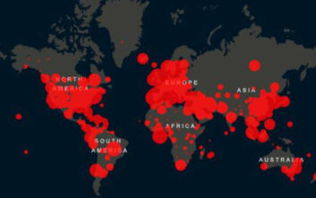 Ο κορονοϊός σε real time: Η λίστα των χωρών σε κρούσματα και νεκρούς - Η θέση της Ελλάδας