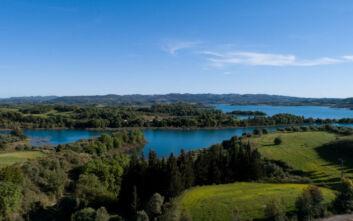 Εντυπωσιακές εικόνες από την τεχνητή λίμνη Πηνειού, στην Ηλεία