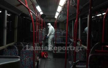 Λαμία: Ξεκίνησε συστηματική απολύμανση στα Αστικά λεωφορεία λόγω κορονοϊού