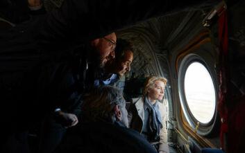 Καρέ - καρέ η επίσκεψη του Κυριάκου Μητσοτάκη και των Ευρωπαίων ηγετών στις Καστανιές