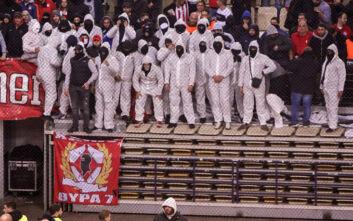 Ολυμπιακός - Παναθηναϊκός: Με στολές προστασίας για τον κορονοϊό οπαδοί των γηπεδούχων