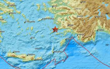 Σεισμός τώρα στα παράλια της Τουρκίας